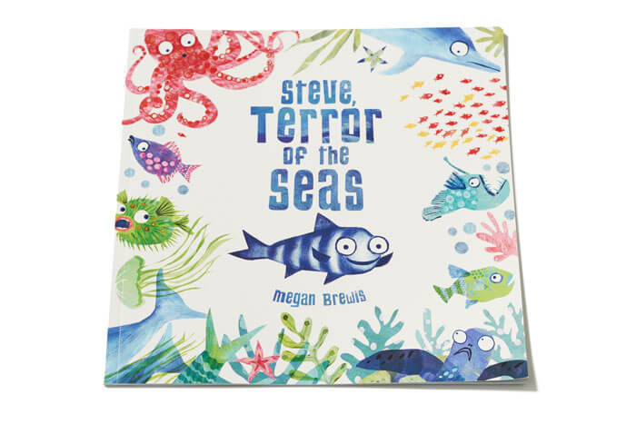 Steve Terror of the Seas illustrated children's book by Megan Brewis