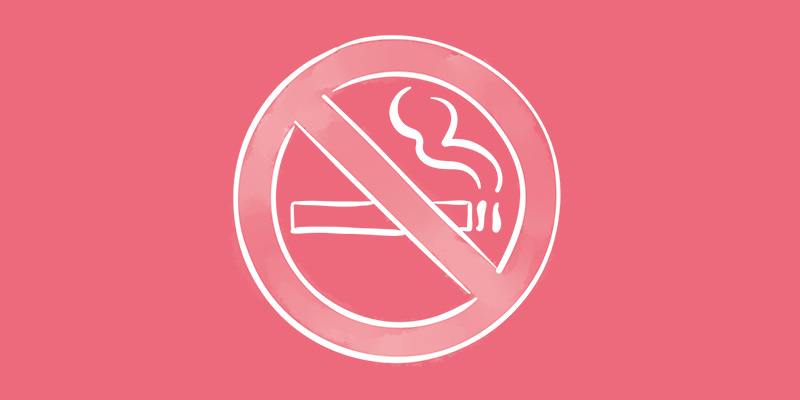 Image of icon banning cigarettes