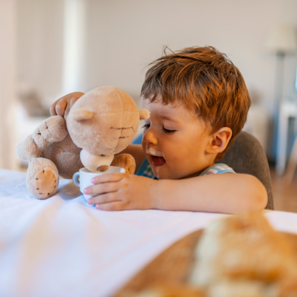 Photo of toddler with teddy