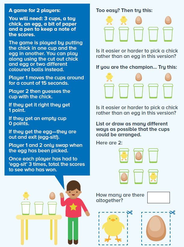 Image of a cartoon boy doing a science experiment, with text explaining the experiment.